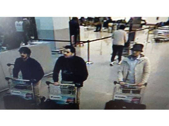 A picture released on March 22, 2016 by the Belgian