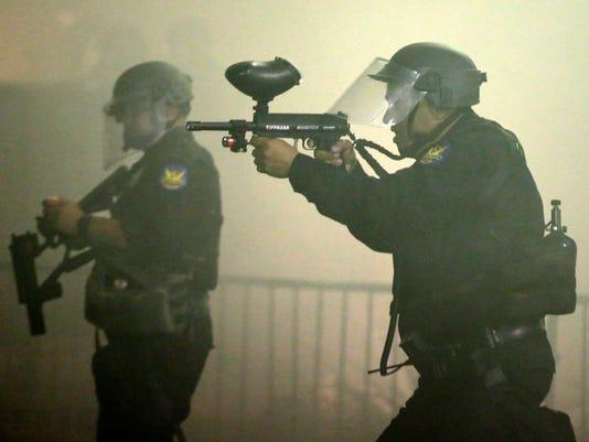 Phoenix police fire tear gas