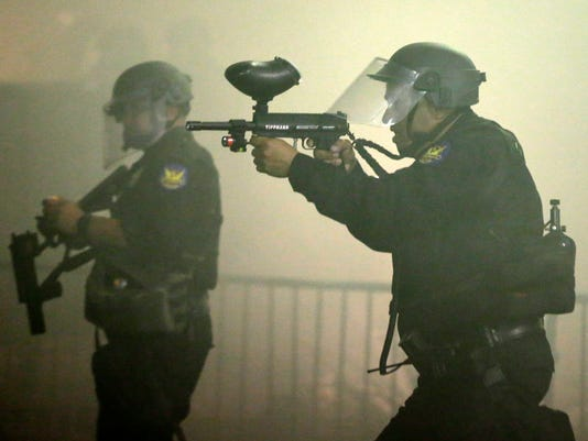 Phoenix police fire tear gas