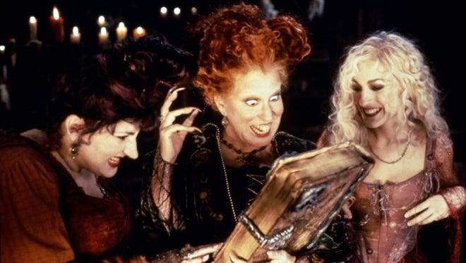"Kathy Najimy, left, Bette Midler and Sarah Jessica Parker star in the classic Halloween film ""Hocus Pocus,"" which will show 2 p.m. Oct. 30 at the Historic Grand Theatre."