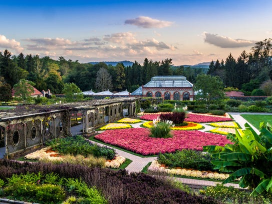 The Biltmore House & Gardens brings vibrant colors