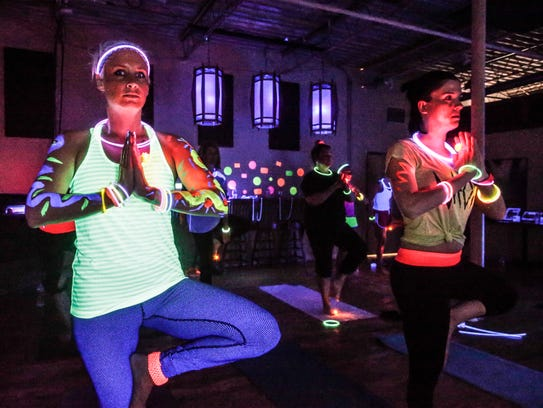 STā FIT Sartell,805 Stearns County Road 120, will hold two Glow Yoga sessions from6-8:15 p.m. Thursday in itsStaFit Peddle/Pose Studio.