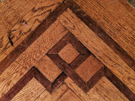 This is a portion of the exposed floor in a closet