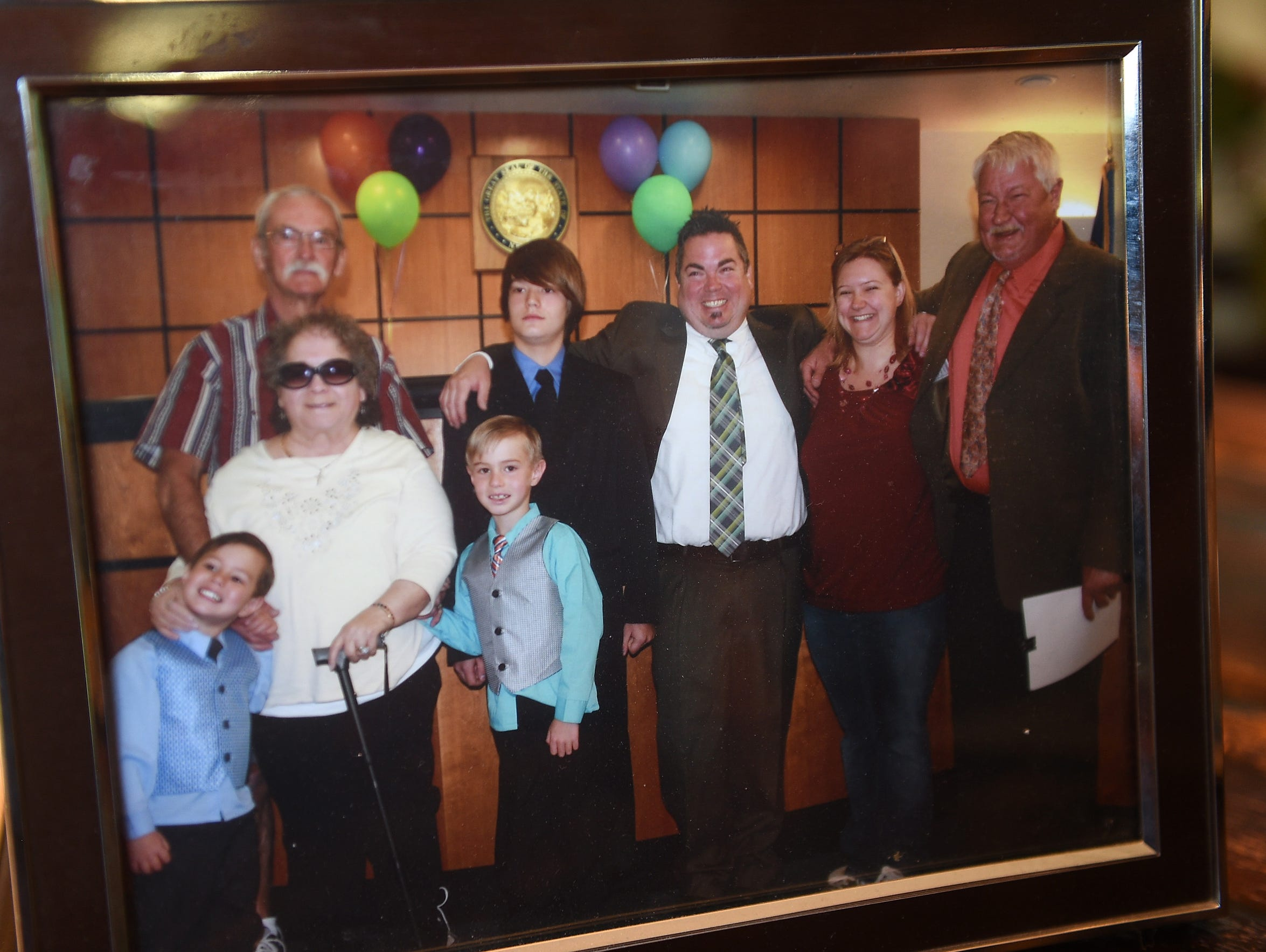 A photo from adoption day with the Douglass/Janowski