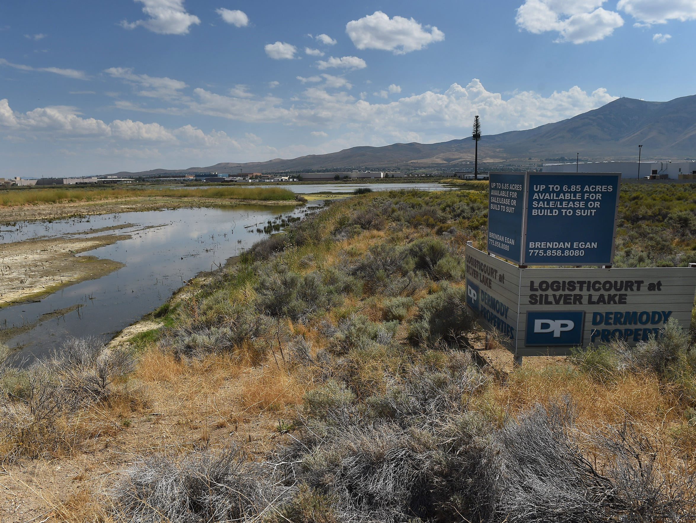 A sign advertising land for sale or lease is seen in