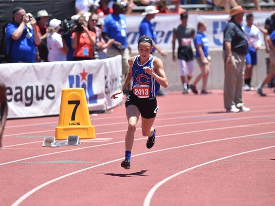 Coleman's Shien Walters run in the 400 meters Saturday,