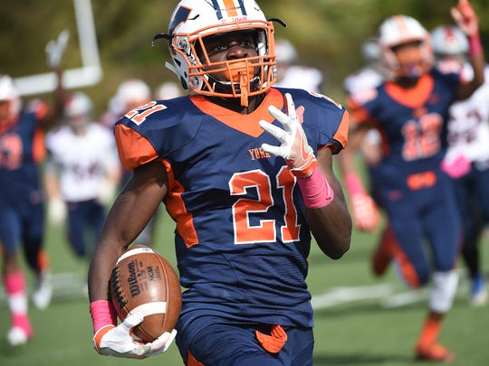 Senior running back Khalid Dorsey has three scholarship