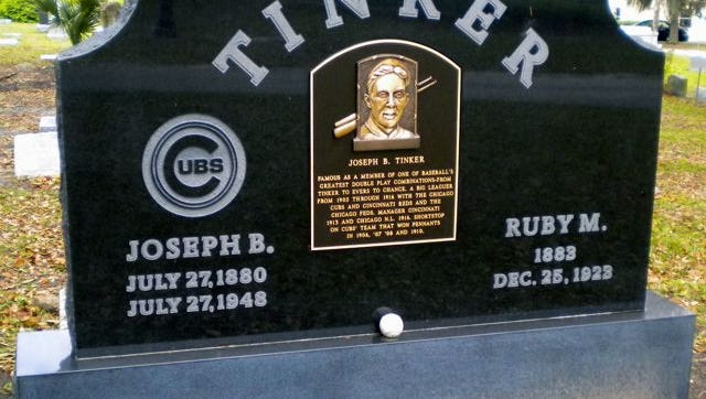 Legendary Chicago Cubs shortstop Joe Tinker is buried in Orlando's historic Greenwood Cemetery. Tinker Field, adjacent to the Citrus Bowl, is named after him.