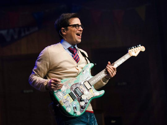 Weezer singer/guitarist Rivers Cuomo performs with