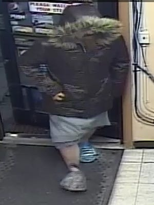 The suspect in Monday night's robbery in Mishicot.