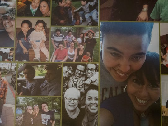Photos of Tashara Burnside with her family and friends