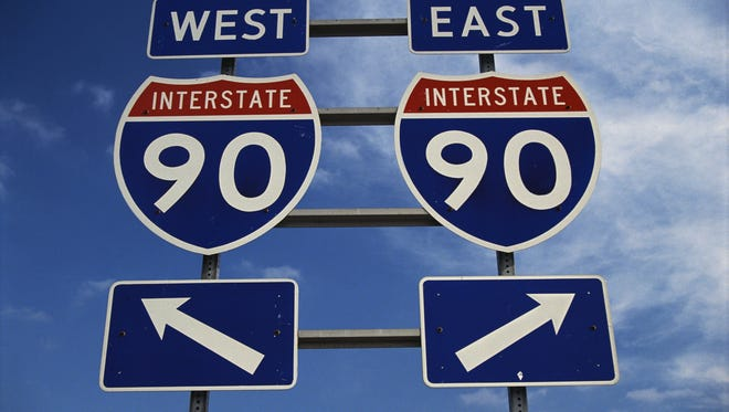 Signs on the New York State Thruway