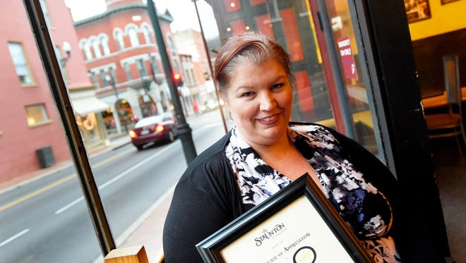 Not only is Sarah Lynch managing partner at Baja Bean Co., she also is a huge fan of the Harry Potter book series. She helped to organize the transformation of downtown Staunton into the magical world of Harry Potter world as part of a day-long event this past summer.