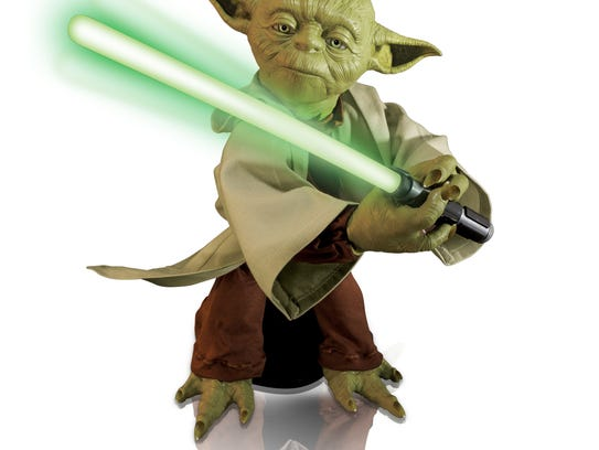 Spin Master Corp.'s Legendary Yoda toy. The toy is