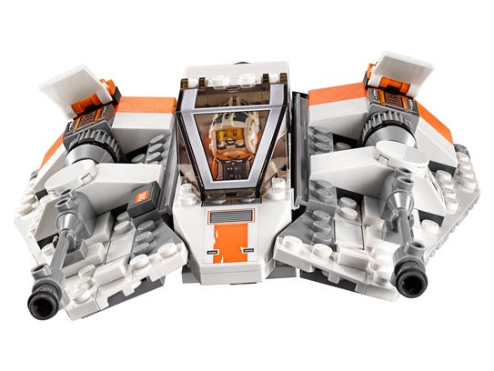 You can fit in two minifigures in the LEGO Rebel Snowspeeder.