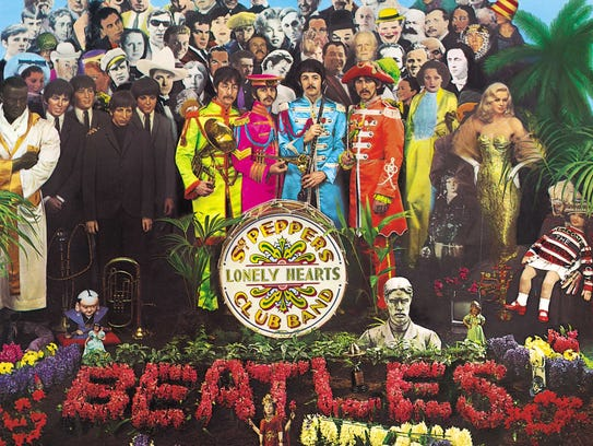 "The famous ""Sgt. Pepper"" album cover."
