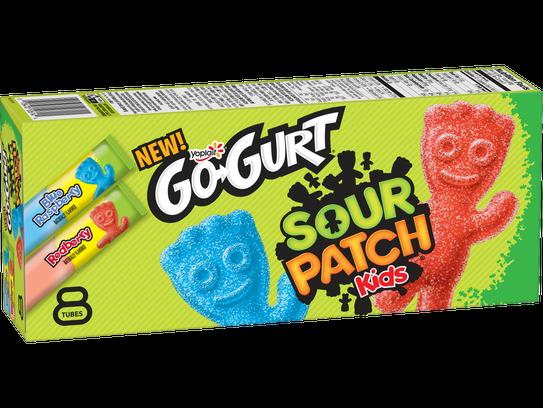 Yoplait GoGurt Sour patch Kids yogurt.