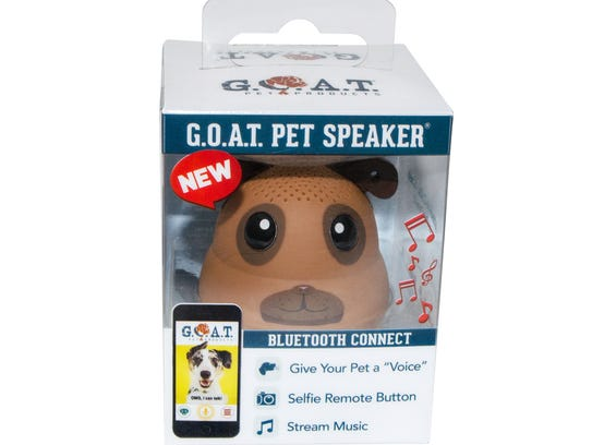 Talk to your dog, cat or bird with a G.O.A.T. speaker.