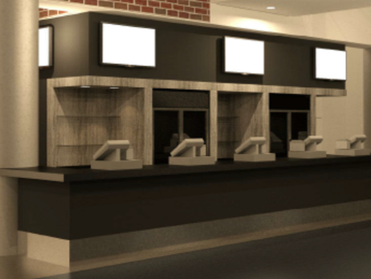 A rendering shows the new concession area coming to