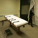 The death chamber at a correctional facility in Lucasville, Ohio.