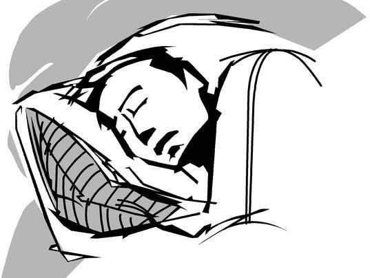 ILLUSTRATION: Person sleeping