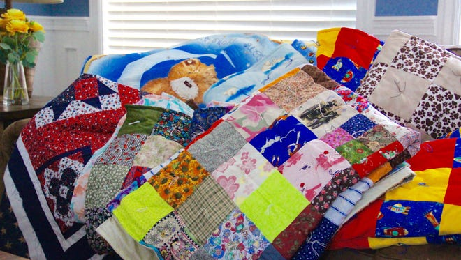 Blanket to be donated to the community at the house of Michele Willis in Cedar City on Wednesday, Dec. 28, 2016.