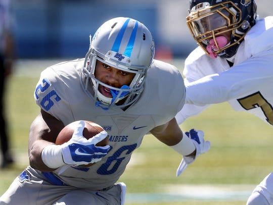 MTSU's Kamani Thomas (26) will fight for the backup
