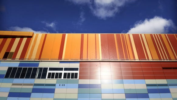 The mix of multiple colors on the walls of Meadowlands