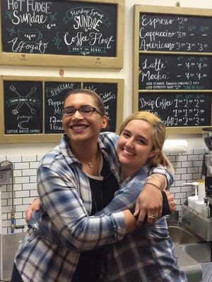 Sarafina Payne, left, and Melissa Kenny opened How Sweet It Is, a dessert cafe in the heart of Trumansburg, and are sharing the love with their newfound customers.