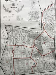 A map delineates Belleville's existing elementary school