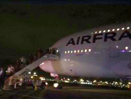 Air France flight diverted