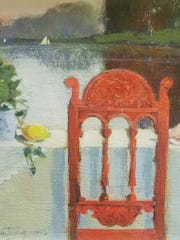 """""""Red Chair with Sea Things,"""" one of the watercolor"""