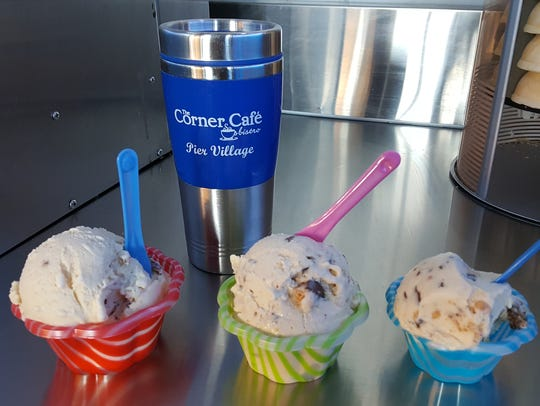 Cups of gelato from The Corner Cafe & Bistro in Long
