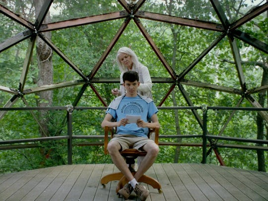 "Ellen Burstyn and Asa Butterfield in ""House of Tomorrow."""