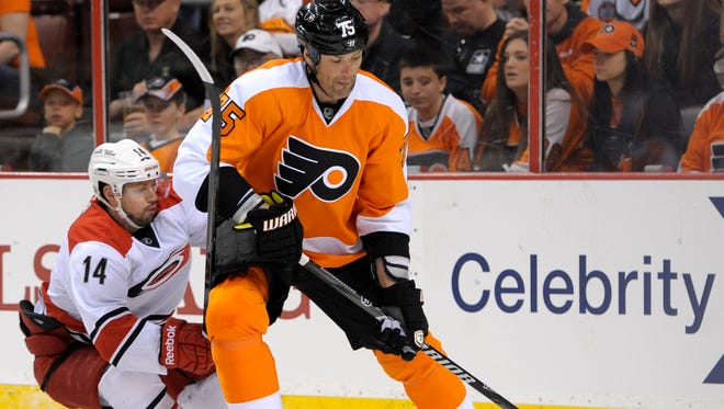Philadelphia Flyers defenseman Hal Gill has been a healthy scratch in all but six games this season.