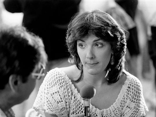 Kathy Mattea is seen on Oct. 13, 1983,  in Nashville, Tenn., at the start of her country music career.