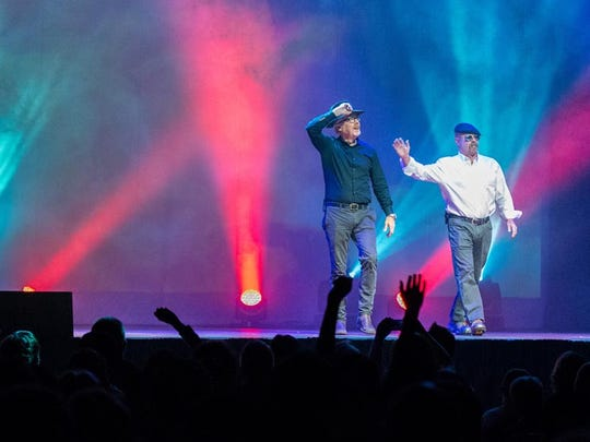 """""""MythBusters"""" hosts Adam Savage and Jamie Hyneman have adapted their Discovery Channel series for a live tour, which visits Ames on Monday."""