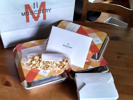 Munchery delivers prepared dishes to heat and serve.