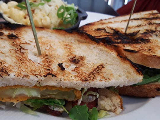 The fried green tomatoes BLT features a medley of flavors.