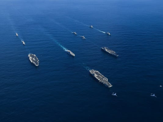 Three carrier strike group exercise