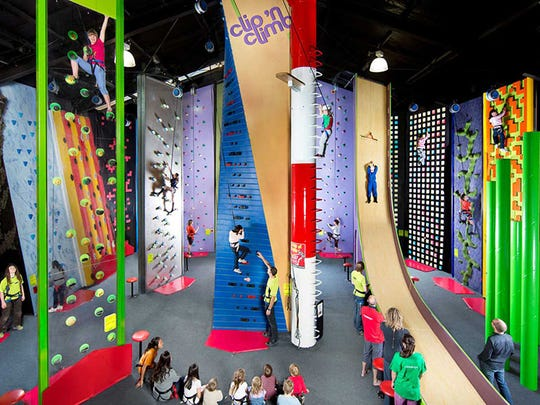The nation's tallest Clip 'n Climb will be a new feature when a 55,000-square-foot expansion is complete.