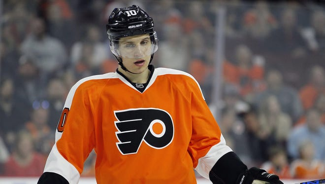 The Flyers' Brayden Schenn may be tasked with helping to defend Washington's Alex Ovechkin in the playoffs.