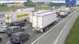 A police activity on the Delaware Memorial Bridge is causing rush-hour headaches.