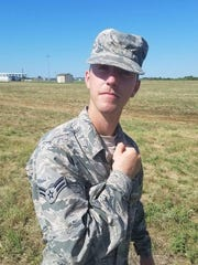 Bradley Hale in military uniform.