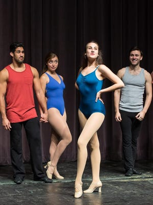 "Auditions for a musical provide the drama in Ithaca College's ""A Chorus Line."""