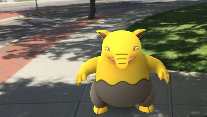 """This """"Drowzee"""" Pokemon was lurking on the grounds of the Broome County Court House this week."""