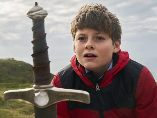 "Louis Ashbourne Serkis as Alex in ""The Kid Who Would Be King."""
