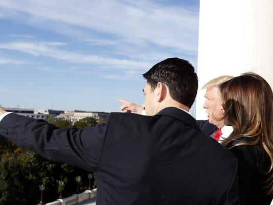 Donald Trump, Paul Ryan, Melania Turmp