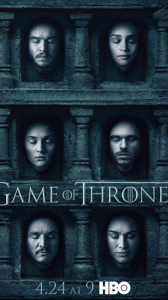 Who do you recognize in Season 6 art for HBO's 'Game