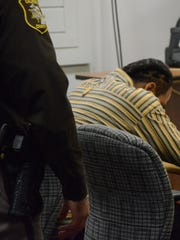 Jeffrey Wimberly bowed his head after the verdict was